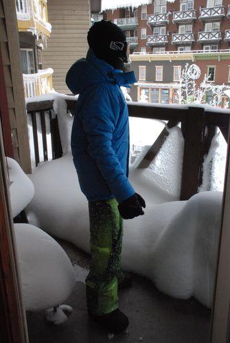 Alex looking at Snowshoe Village