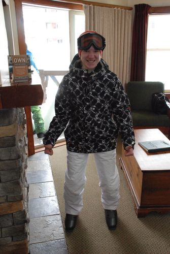Ski boots make you walk funny!