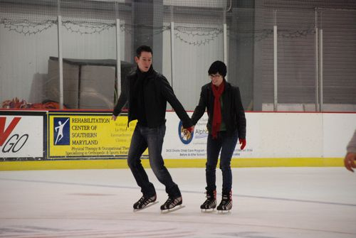Steve trying to make me skate faster
