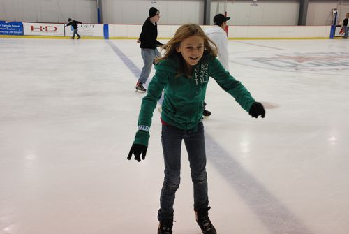 Ashley ice skating