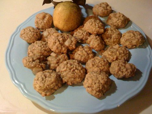 Pear Oatmeal Cookies