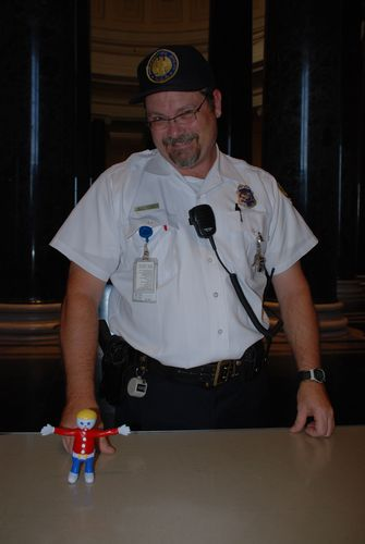 Security Guard and Mr. Bill